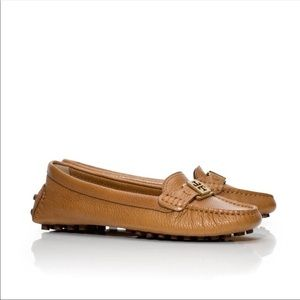 Tory Burch Kendrick Tumbled Leather Loafers